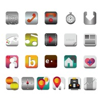 Collection of mobile application icons