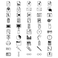 Collection of office icons