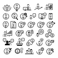 Collection of people icons