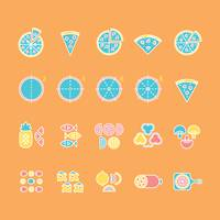 Collection of pizza icon set