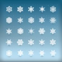 Collection of snowflake cutout design