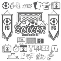 Collection of soccer icons