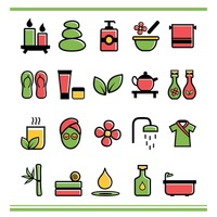 Popular : Collection of spa icons