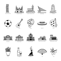Popular : Collection of spain icons