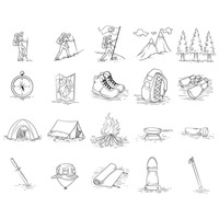 Collection of trekking icons