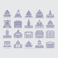 Collection of usa buildings