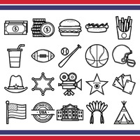 Popular : Collection of usa icons
