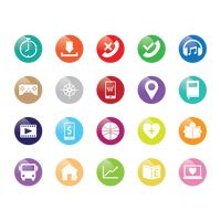 Popular : Collection of various app icons