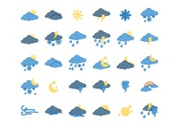 Collection of weather icons