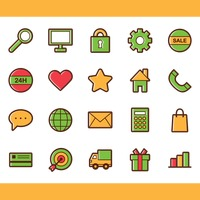 Popular : Collection of web icons