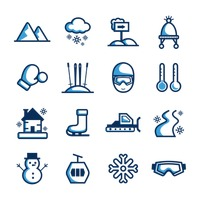 Popular : Collection of winter icons
