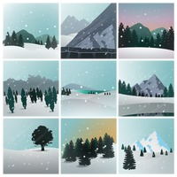 Popular : Collection of winter landscapes