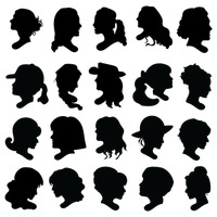 Collection of woman s silhouette