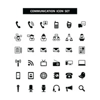Popular : Communication icons