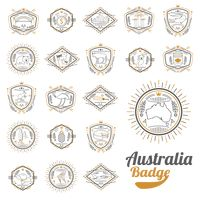Compilation of australian representation badge