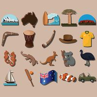 Compilation of representations of australia
