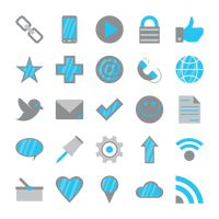Compilation of social media icons
