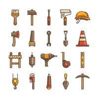 Construction tool icons