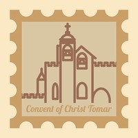 Convent of christ tomar postal stamp