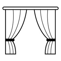 Window with curtain vector image 1462802 stockunlimited - Images of curtans ...