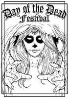 Day of the dead festival poster design