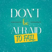 Don t be afraid to fail typography design