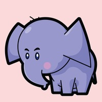 Elephant on a pink background