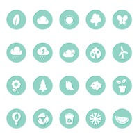 Environmental themed icons