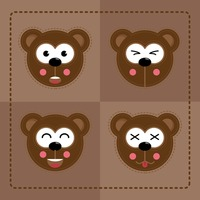Popular : Face emotions of bear