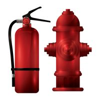 Fire extinguisher and fire hydrant