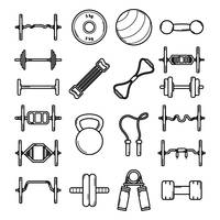 Popular : Fitness equipment icons