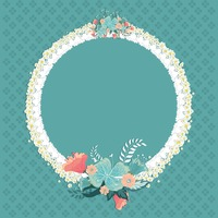 Floral frame with copyspace