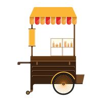Food cart Vector Image - 1979635 | StockUnlimited