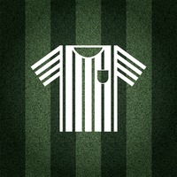 Football referee t-shirt on striped background