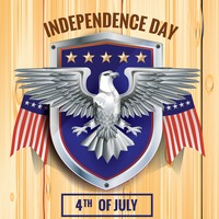 Fourth of july independence day poster
