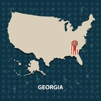 Georgia state on the map of usa