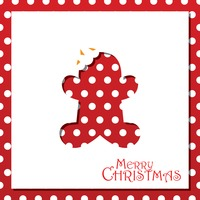 Popular : Gingerbread christmas card design