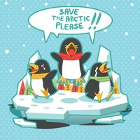 Popular : Global warming concept with penguins