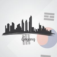 Goyang skyline silhouette
