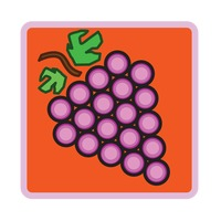 Popular : Grapes over red background