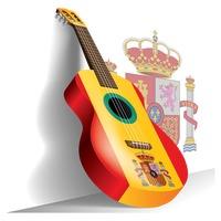 Guitar With Spain Flag