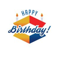 Popular : Happy birthday label