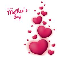 Happy mothers day card with hearts