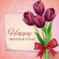 Happy mothers day greeting design