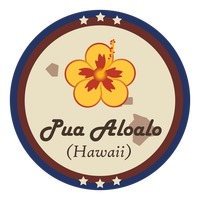 Hawaii state with pua aloalo flower