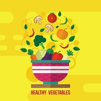 Healthy vegetables design