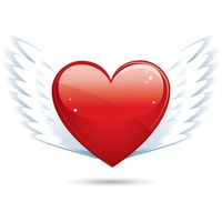 Popular : Heart shape with wings