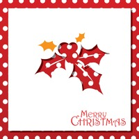Popular : Holly berry christmas card design