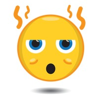 character characters hot smiley emoticon heat steaming