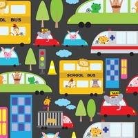 Illustrated cartoon vehicles background design